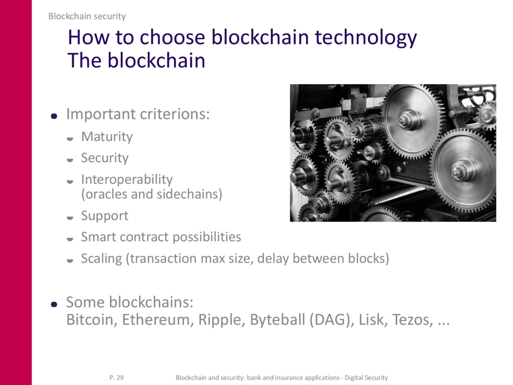 How to choose blockchain technology The blockch...