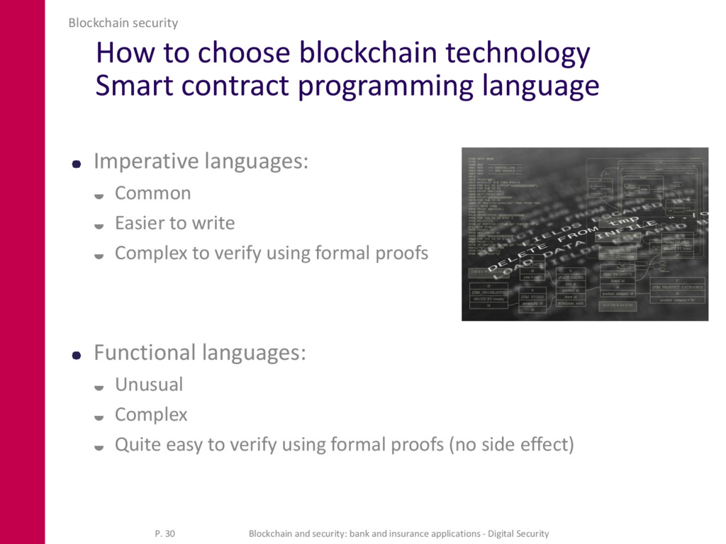 How to choose blockchain technology Smart contr...