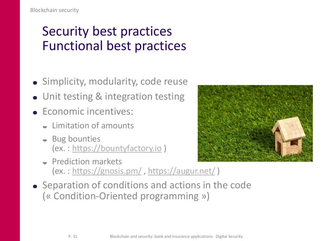 Security best practices Functional best practic...