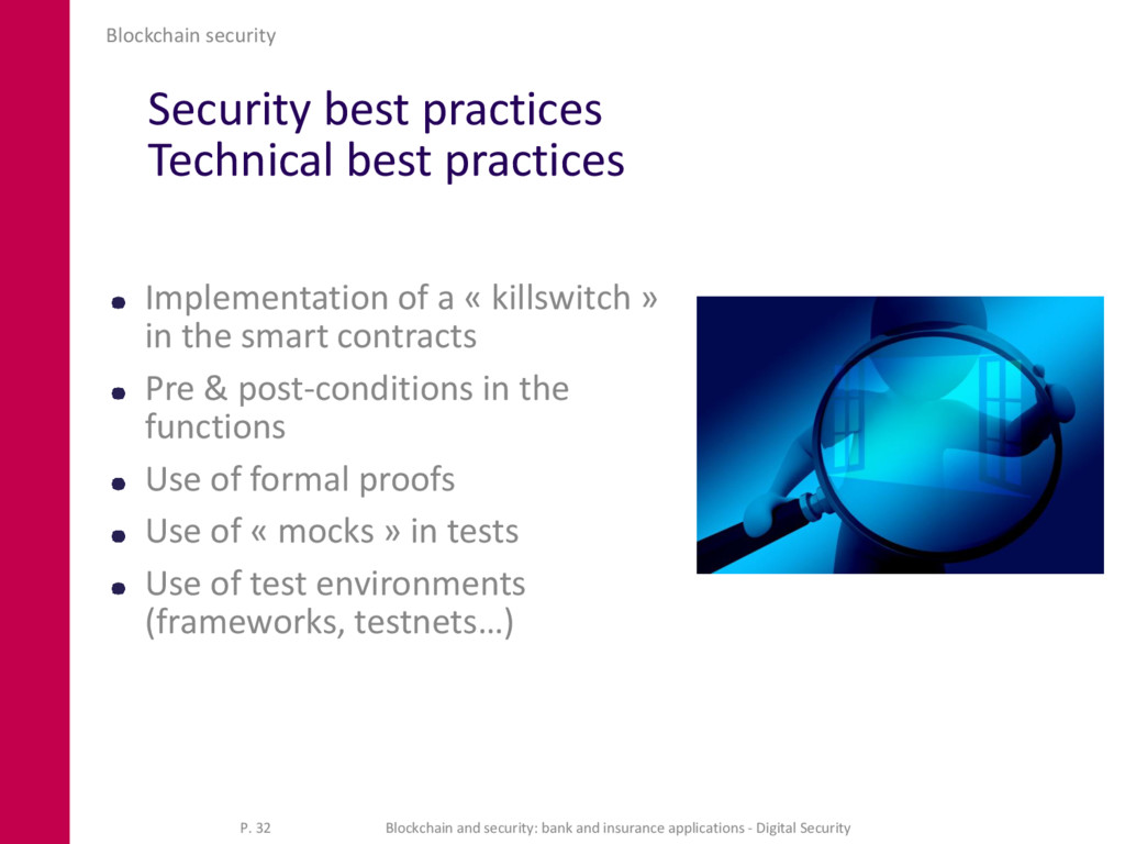Security best practices Technical best practice...