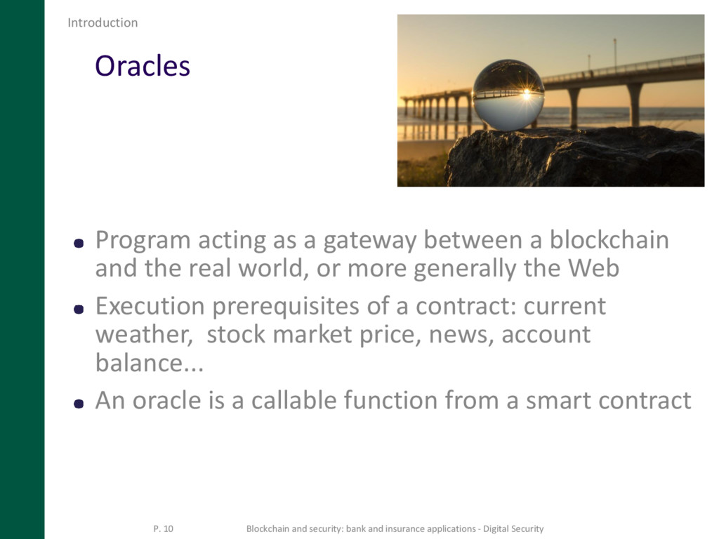 Oracles Program acting as a gateway between a b...