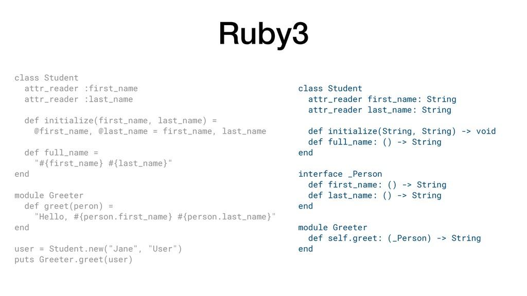 Ruby3 class Student attr_reader :first_name att...
