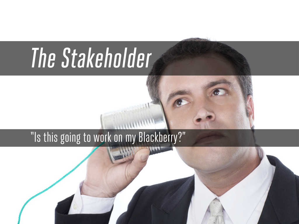 "The Stakeholder ""Is this going to work on my Bl..."