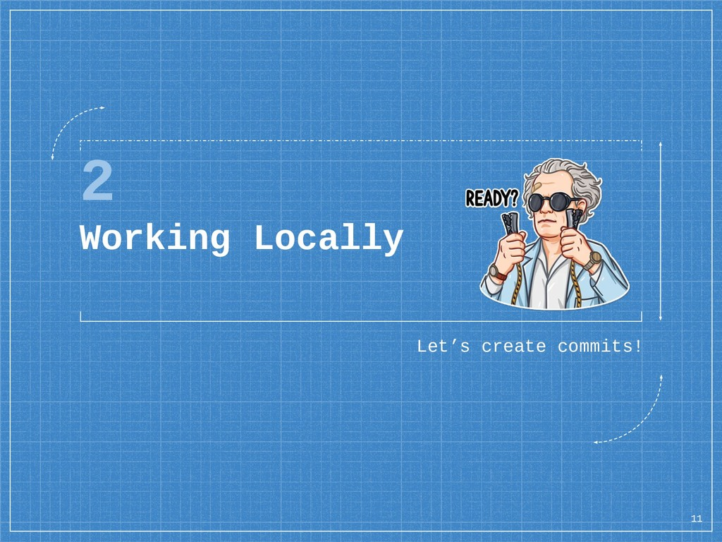 2 Working Locally Let's create commits! 11
