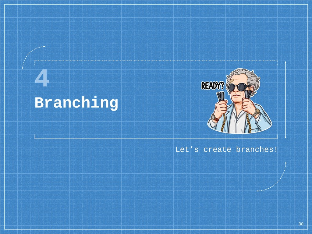 4 Branching Let's create branches! 30