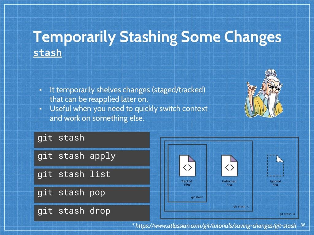 Temporarily Stashing Some Changes stash 36 git ...