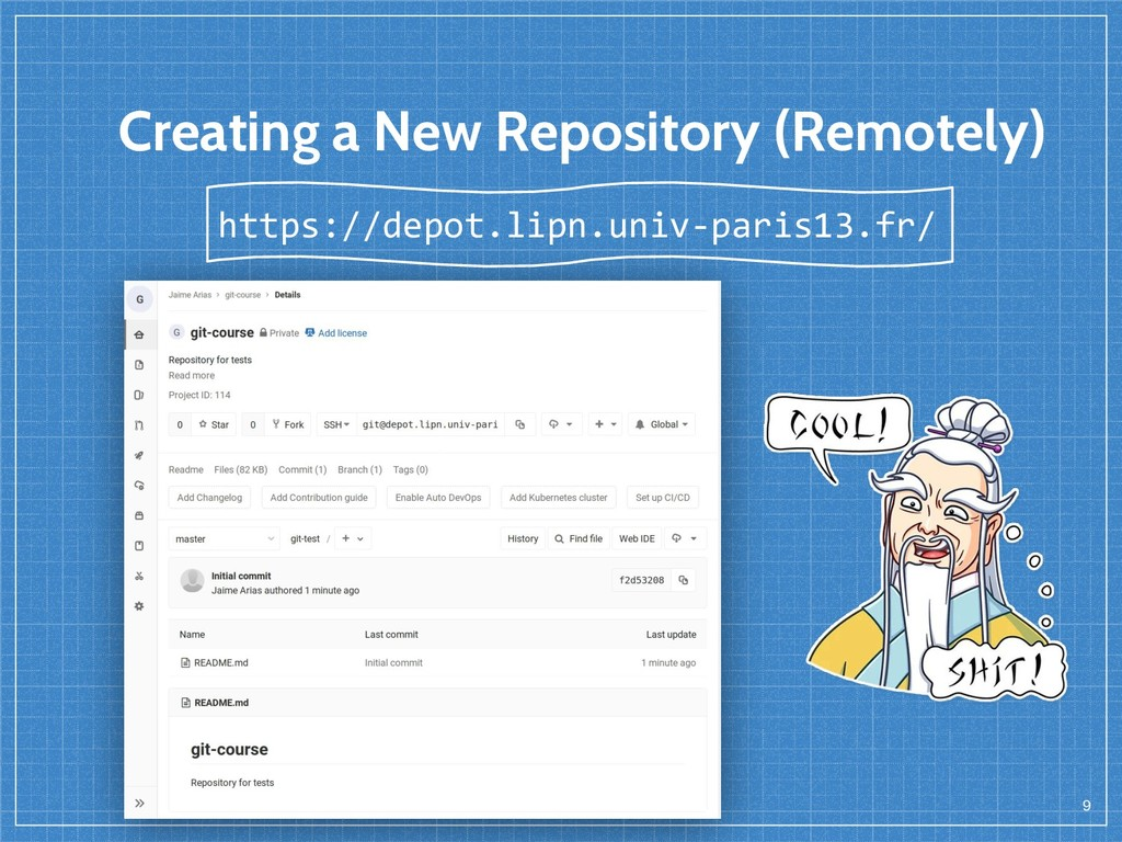 Creating a New Repository (Remotely) 9 https://...
