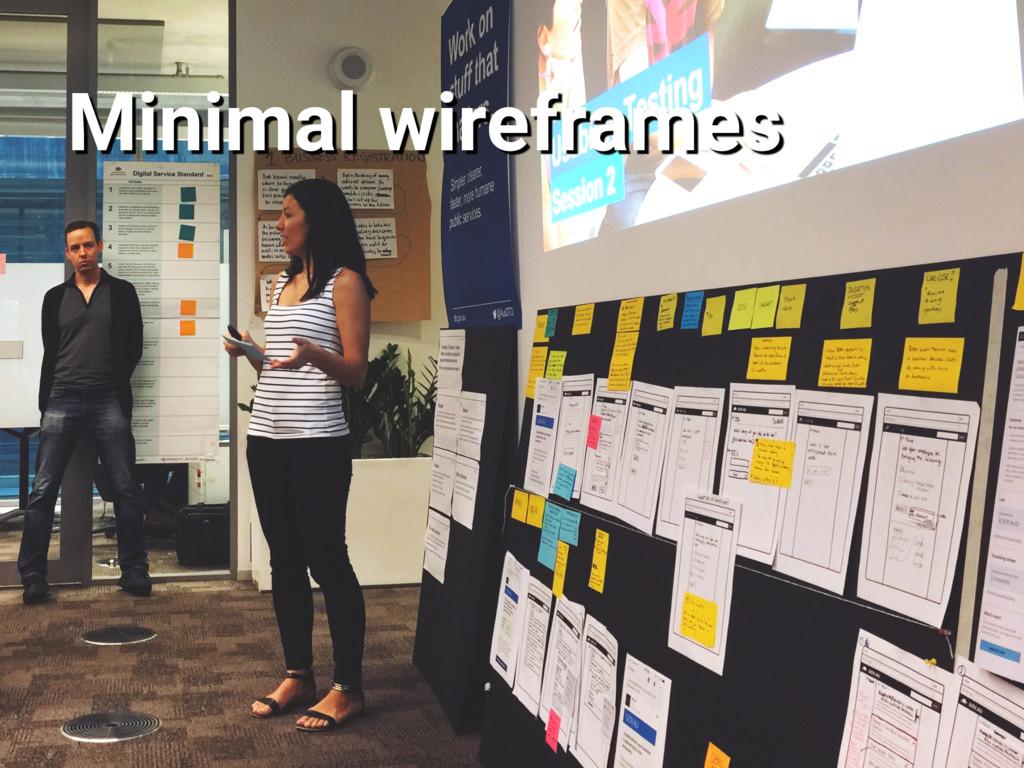 Minimal wireframes
