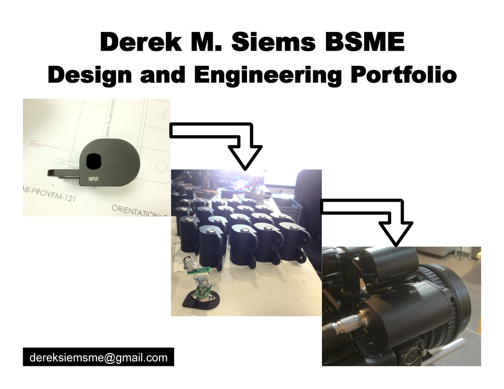 Derek M. Siems BSME Design and Engineering Port...