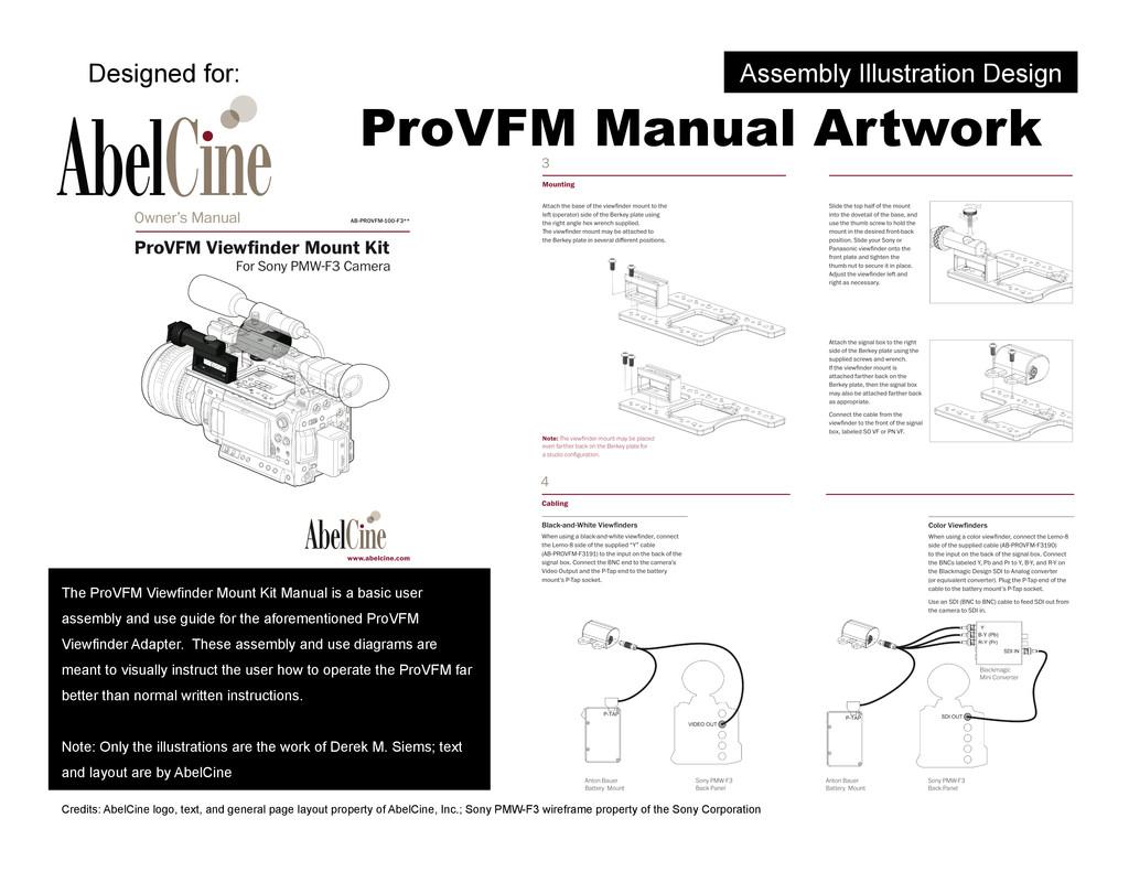 ProVFM Manual Artwork The ProVFM Viewfinder Mou...