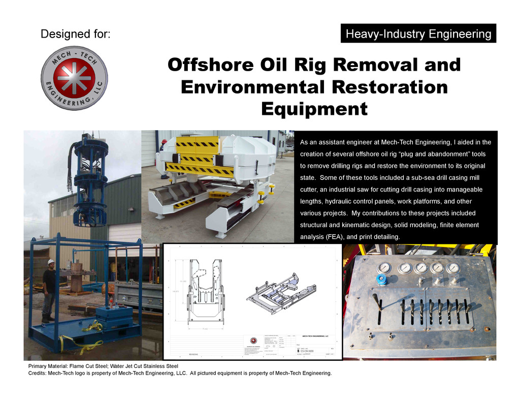 Offshore Oil Rig Removal and Environmental Rest...