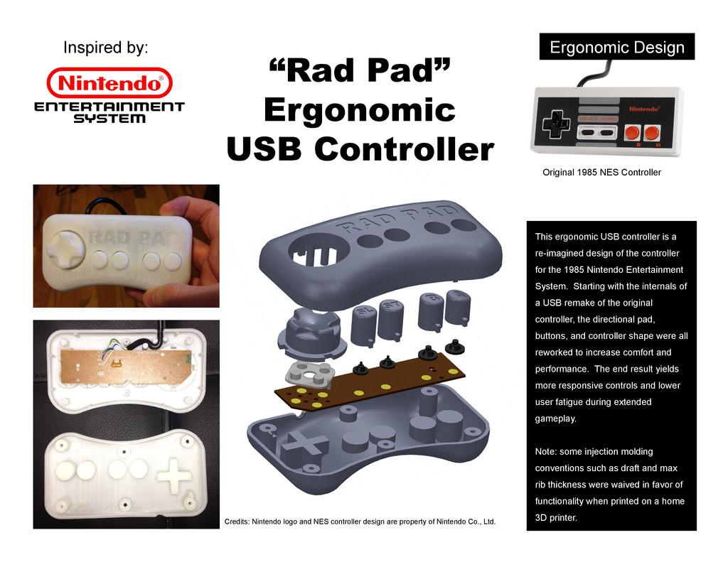 """Ergonomic Design """"Rad Pad"""" Ergonomic USB Contro..."""