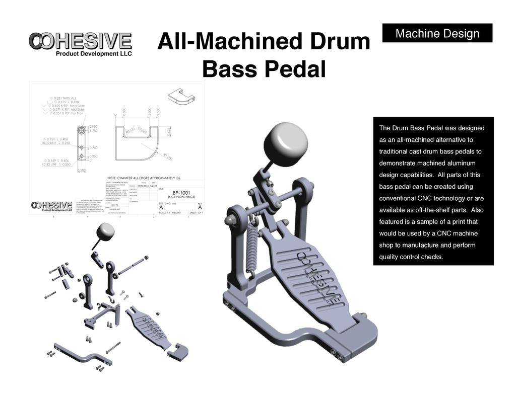 Machine Design! All-Machined Drum Bass Pedal! T...
