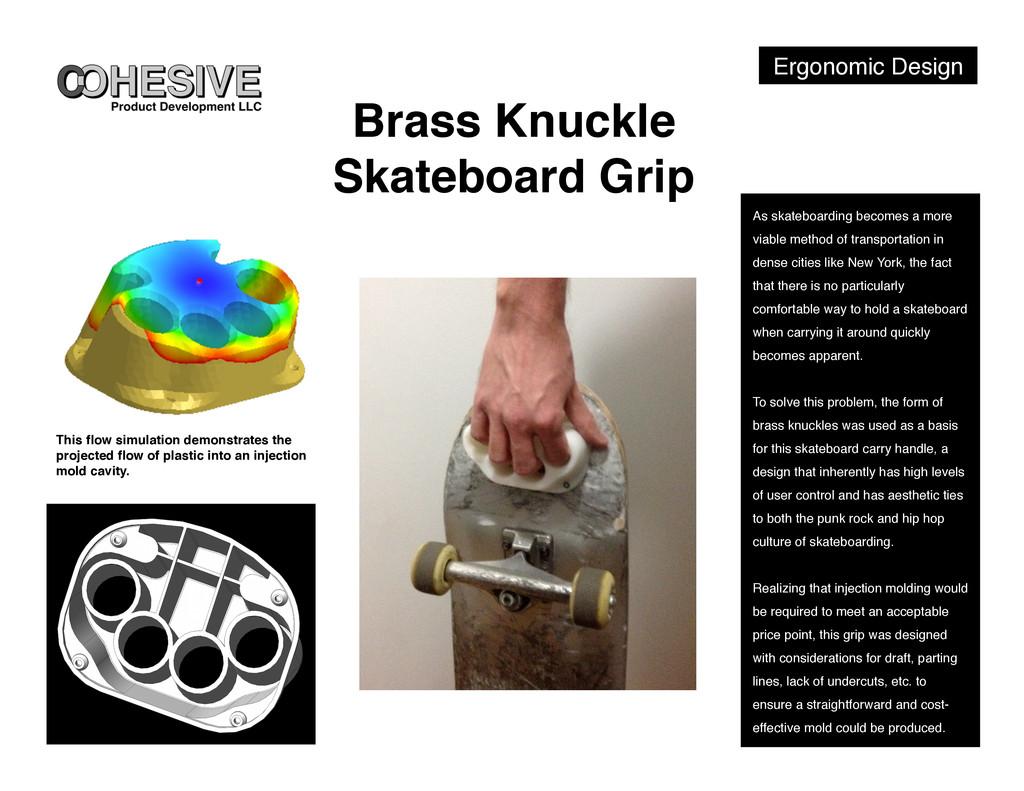 Ergonomic Design! Brass Knuckle Skateboard Grip...