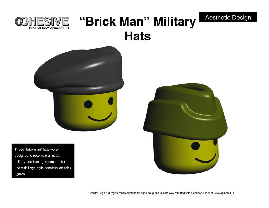 "Aesthetic Design! ""Brick Man"" Military Hats! Th..."