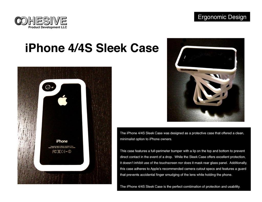 Ergonomic Design! iPhone 4/4S Sleek Case! The i...