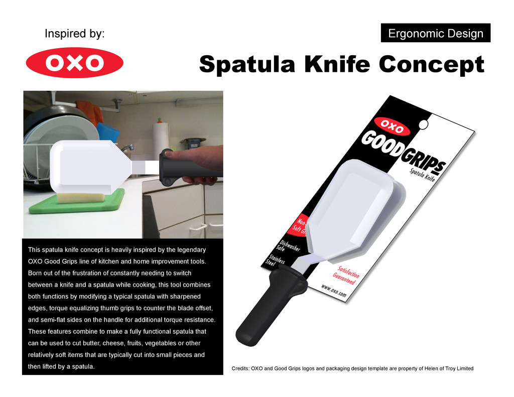 Ergonomic Design Spatula Knife Concept This spa...