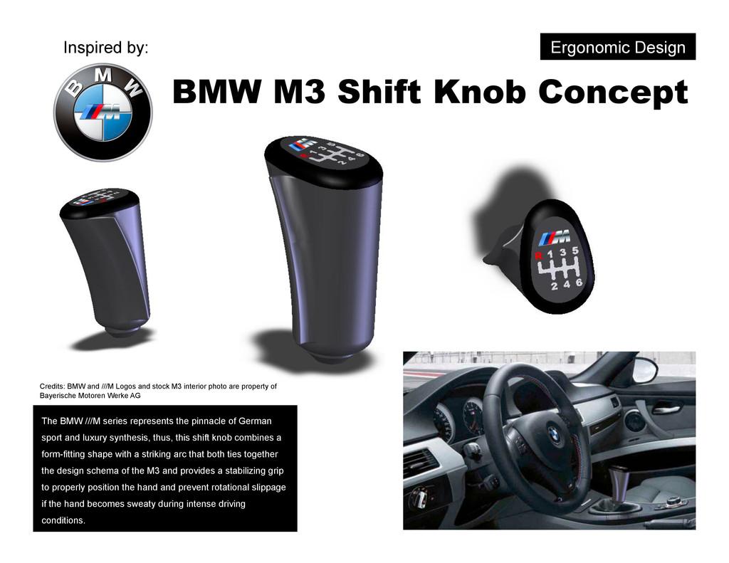 BMW M3 Shift Knob Concept Ergonomic Design The ...