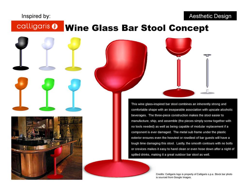 Aesthetic Design Wine Glass Bar Stool Concept T...