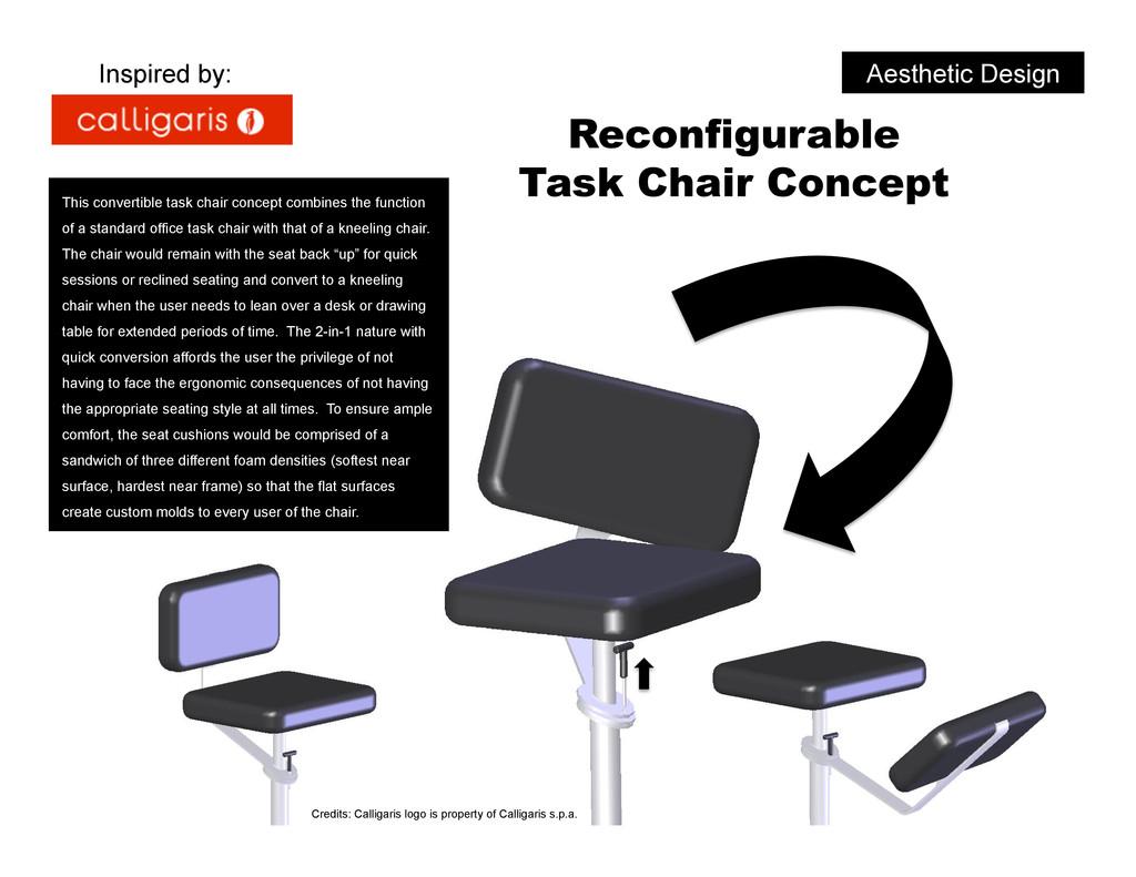 Reconfigurable Task Chair Concept Aesthetic Des...