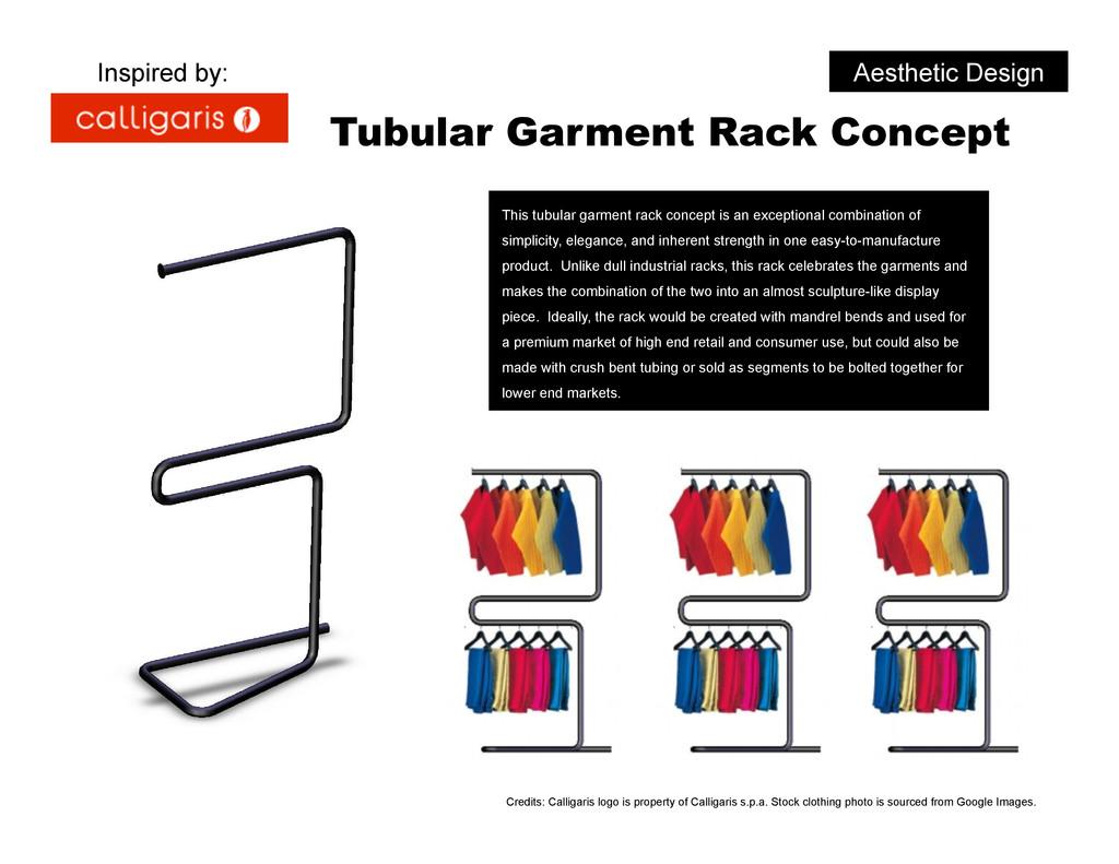 Aesthetic Design Tubular Garment Rack Concept T...