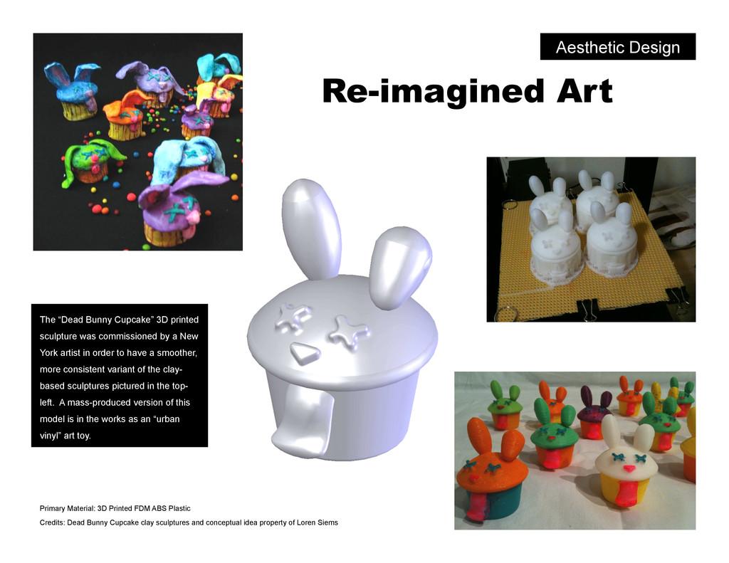 """Re-imagined Art The """"Dead Bunny Cupcake"""" 3D pri..."""