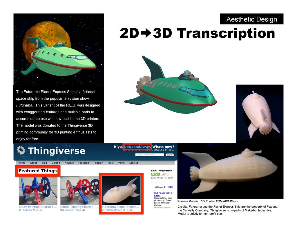 2D 3D Transcription The Futurama Planet Express...