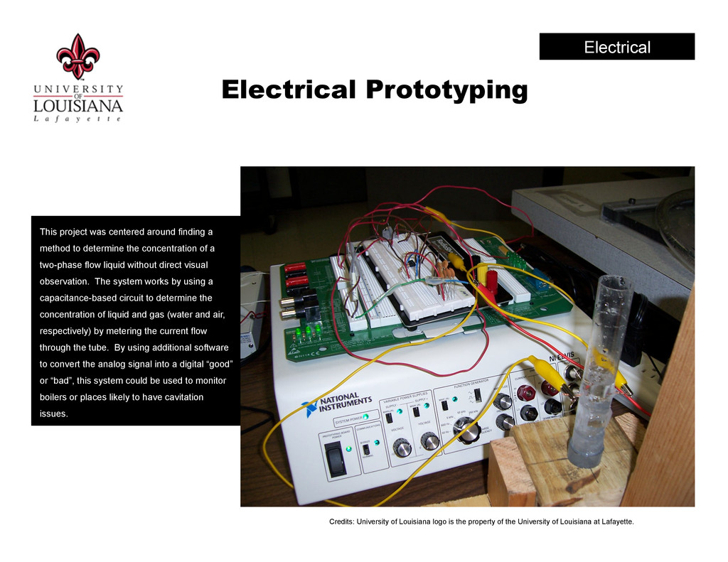 Electrical Prototyping This project was centere...