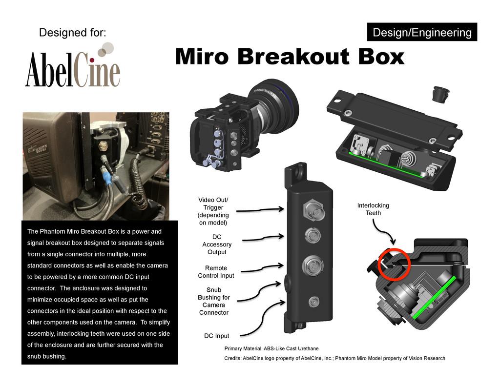 Miro Breakout Box Interlocking Teeth Video Out/...