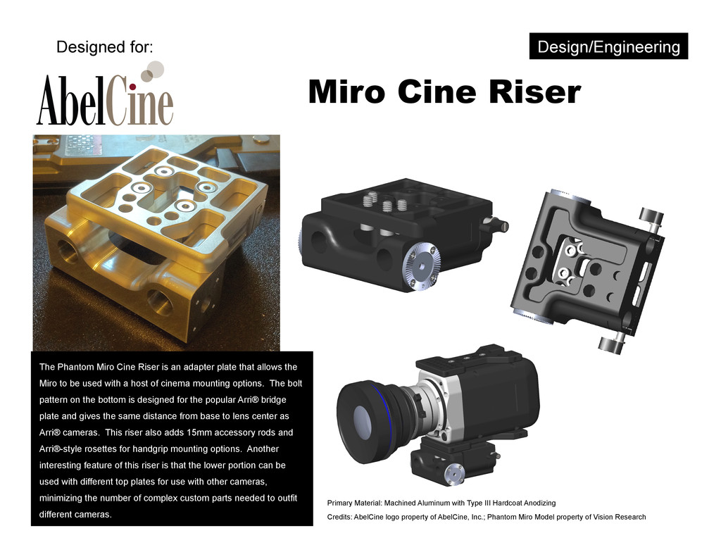 Miro Cine Riser The Phantom Miro Cine Riser is ...