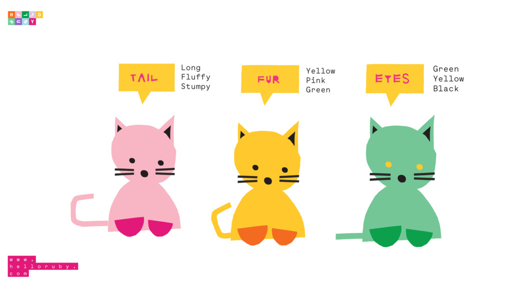 FUR Yellow Pink Green TAIL Long Fluffy Stumpy E...