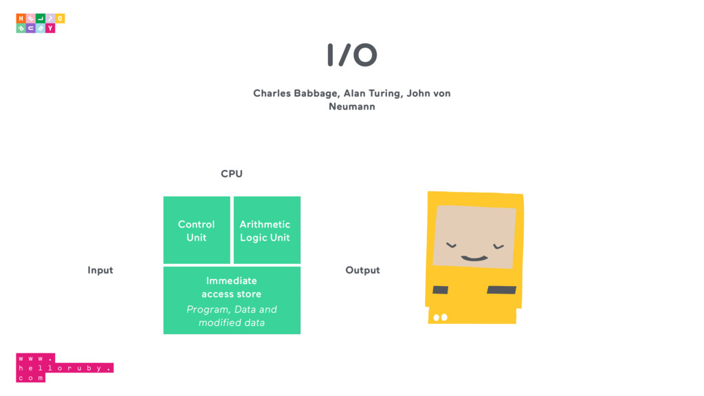 Charles Babbage, Alan Turing, John von Neumann ...