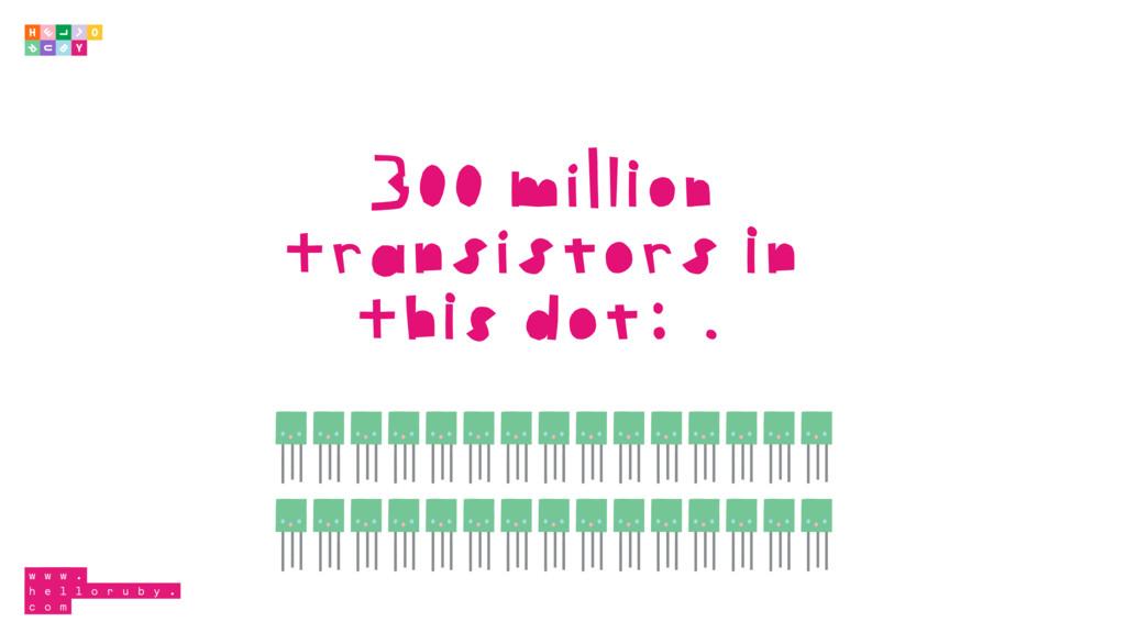 300 million transistors in this dot: .