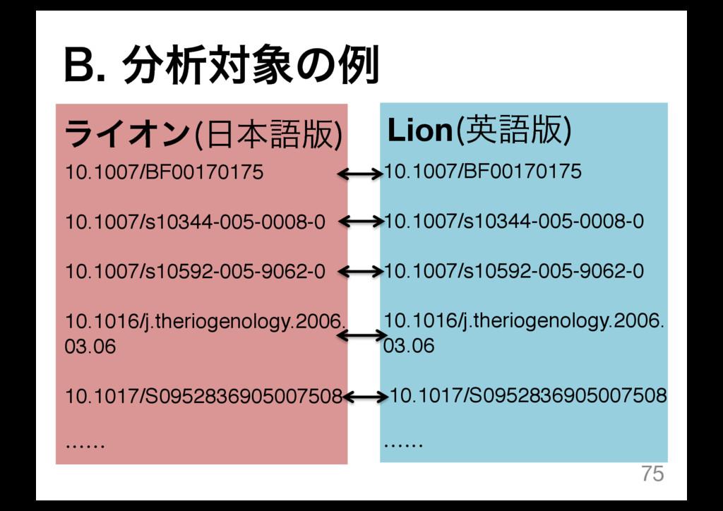 #ੳରͷྫ 75 ϥΠΦϯ ຊޠ൛  Lion ӳޠ൛  10.1007/BF001...