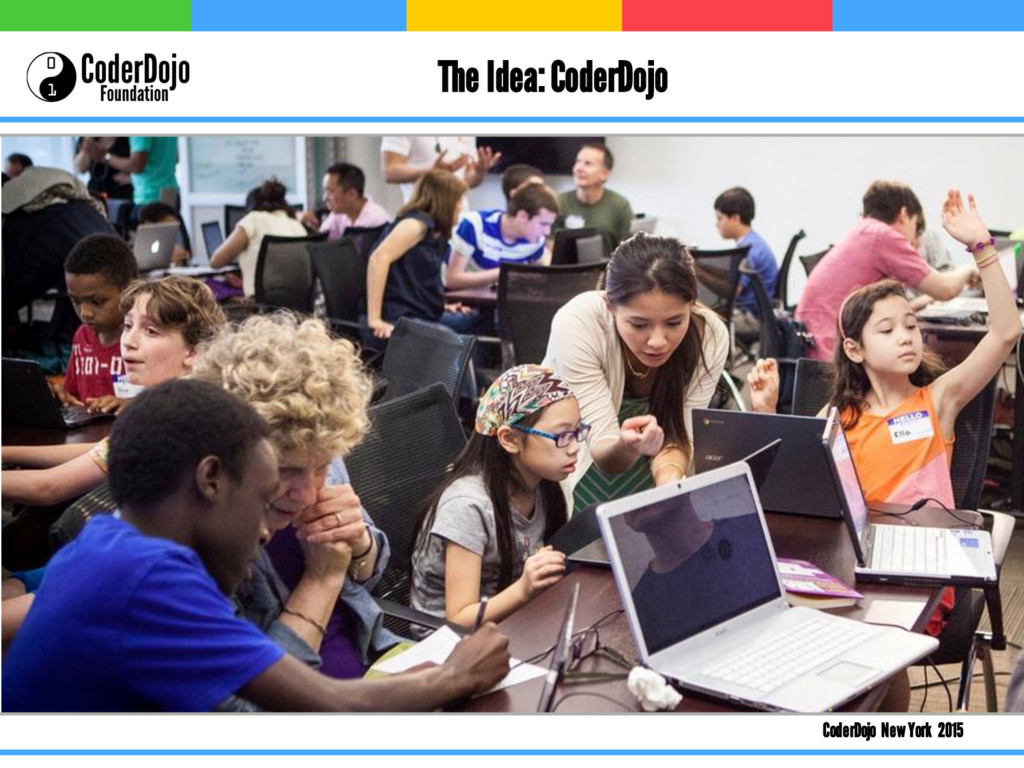 CoderDojo New York 2015 The Idea: CoderDojo