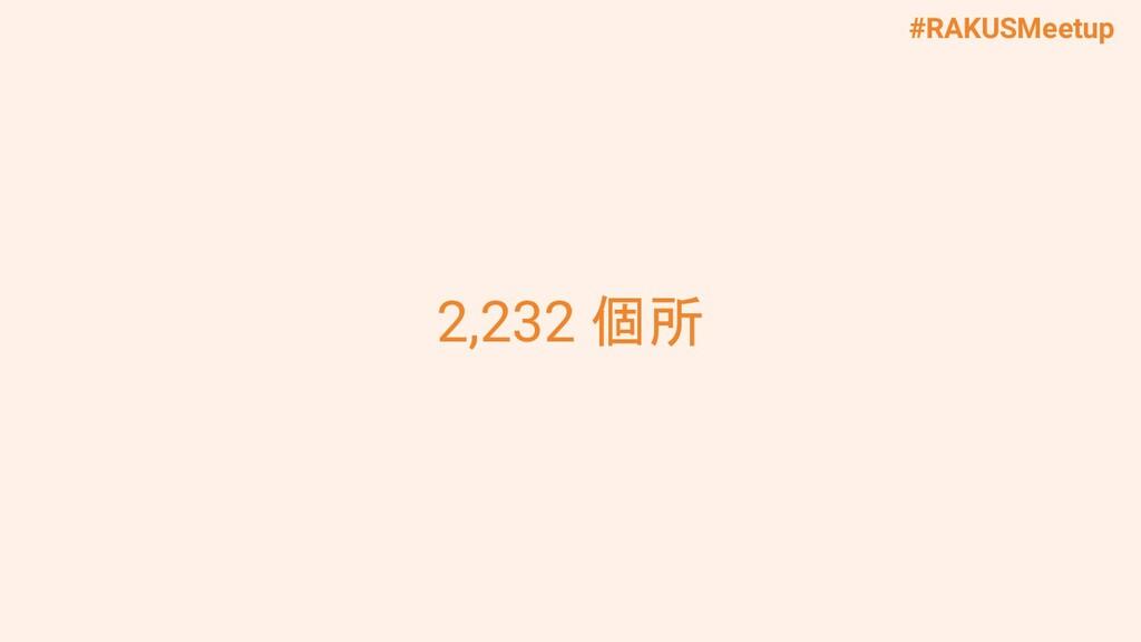 #RAKUSMeetup 2,232 個所