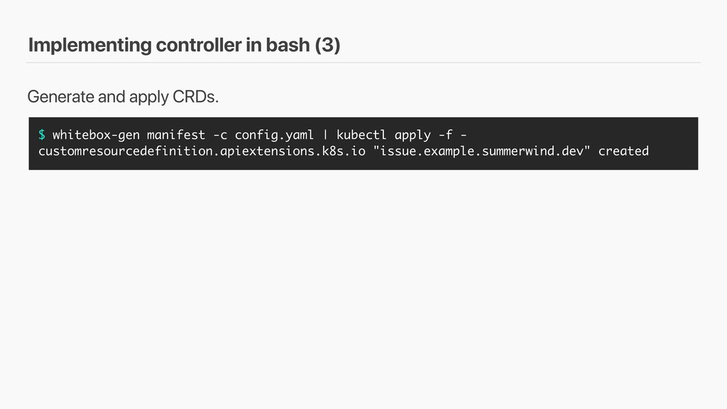 Implementing controller in bash (3) $ whitebox-...