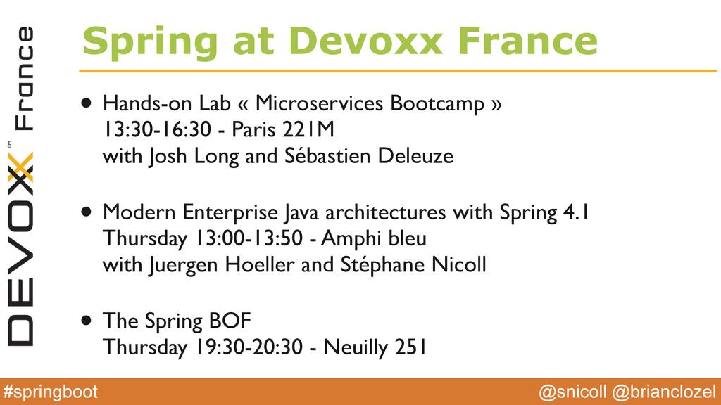 @snicoll @brianclozel #springboot Spring at Dev...