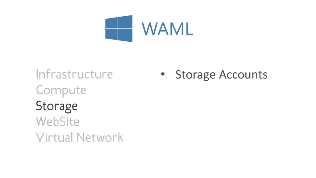 WAML • Storage Accounts