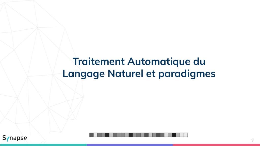3 Traitement Automatique du Langage Naturel et ...