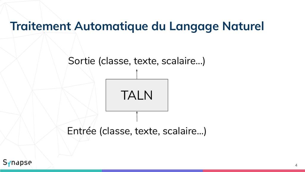 Traitement Automatique du Langage Naturel 4 TAL...