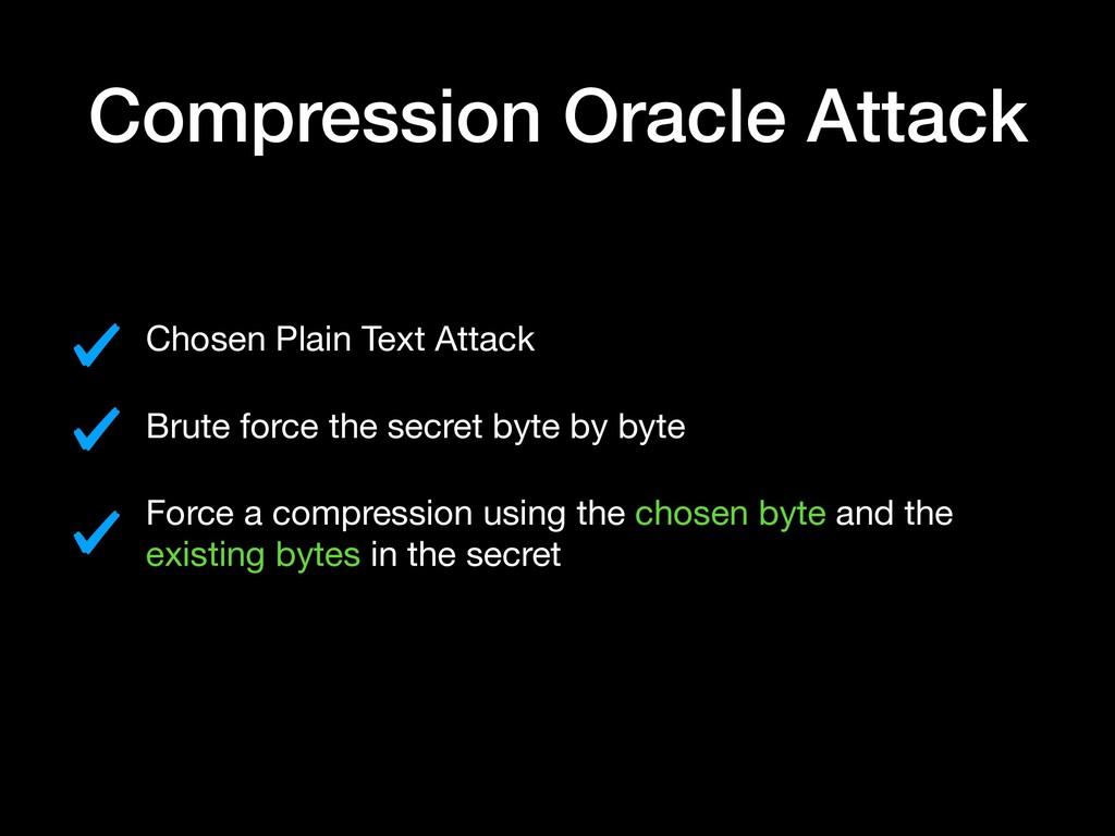 Compression Oracle Attack Chosen Plain Text Att...