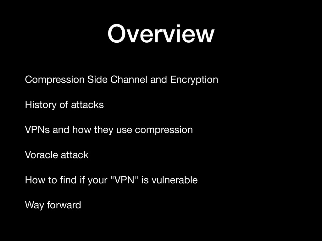Overview Compression Side Channel and Encryptio...