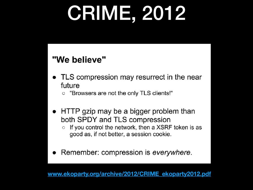 CRIME, 2012 www.ekoparty.org/archive/2012/CRIME...