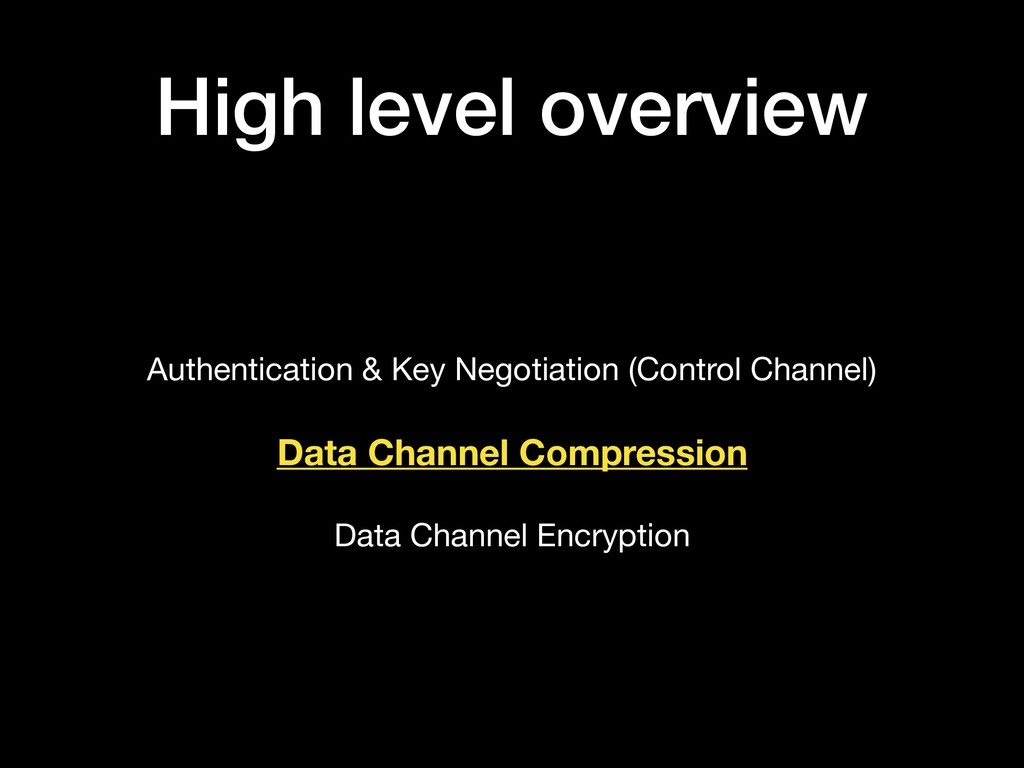 High level overview Authentication & Key Negoti...