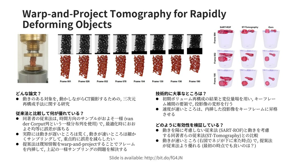 Warp-and-Project Tomography for Rapidly Deformi...