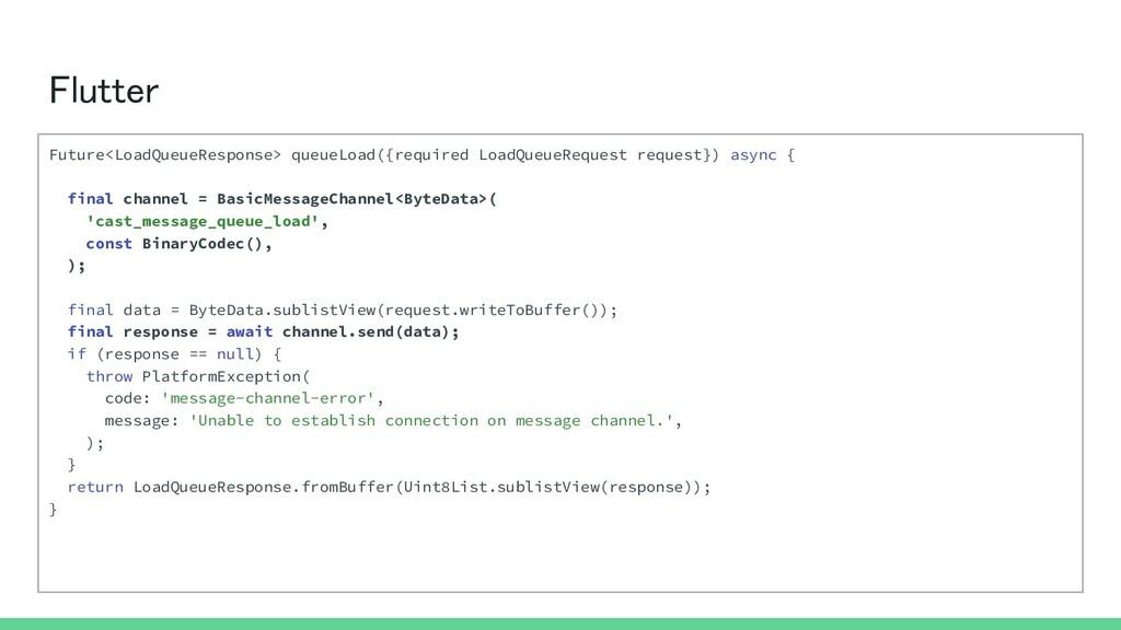 Flutter Future<LoadQueueResponse> queueLoad({r...