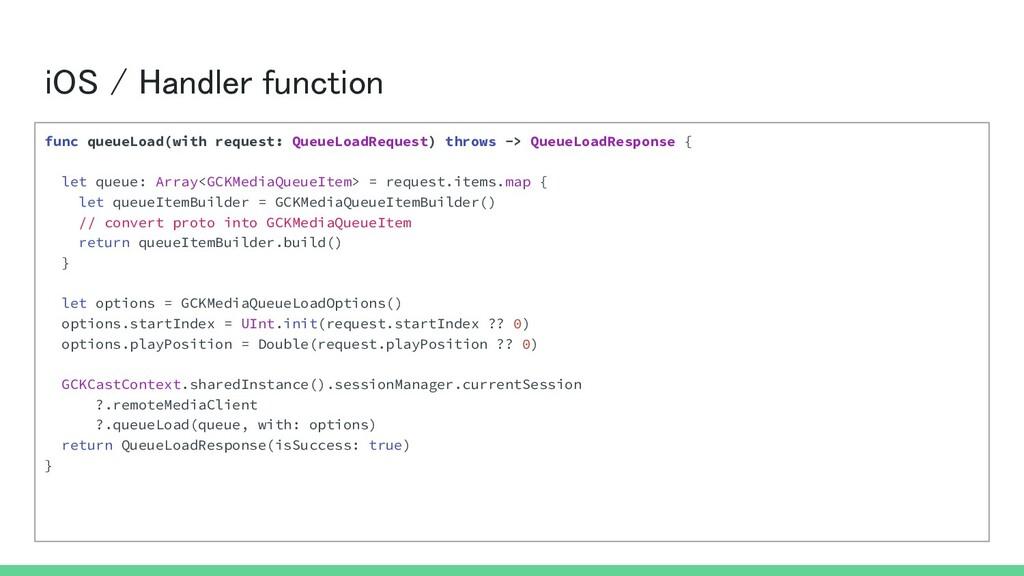 iOS / Handler function func queueLoad(with req...