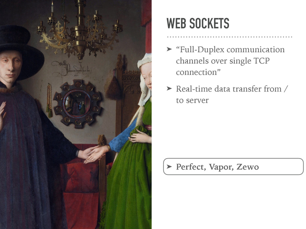 "WEB SOCKETS ➤ ""Full-Duplex communication channe..."