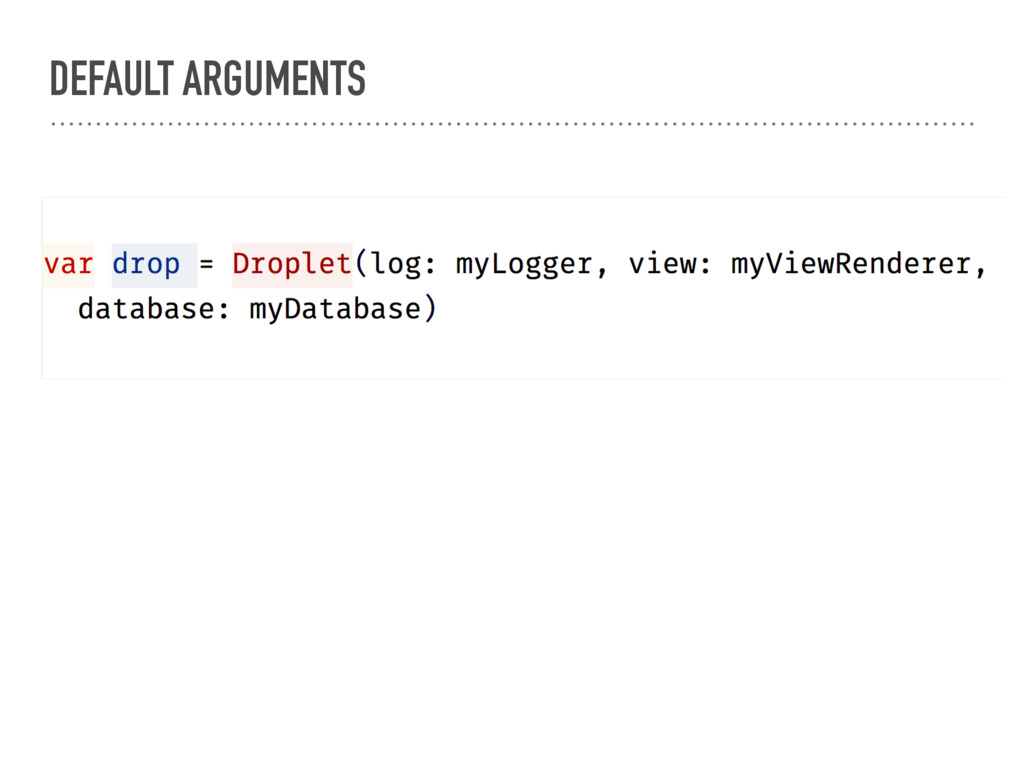 DEFAULT ARGUMENTS